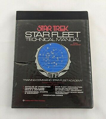VTG Star Trek Star Fleet Technical Manual 1975 1st Ed 1st Printing Franz Joseph