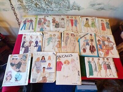 LOT of 15 Vintage Sewing Patterns-Butterick/Simplicity/McCalls/Advance