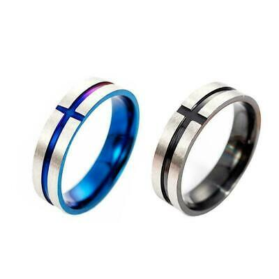 Mens Titanium Stainless Steel Ring Promise Engagement Ring Wedding Size7-12 L7I2