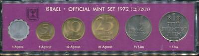 Israel, 1972 Uncirculated Mint set of 6 coins
