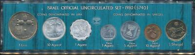Israel, 1980 Uncirculated Mint set of 7 coins