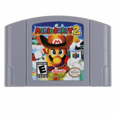 For Nintendo 64 N64 Mario Party 2 Video Game Cartridge Only Ship from New York