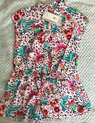 Tu Girls 2 Piece Shorts And Top Outfit Age 7 NWT Holiday Summer