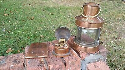 Vintage Ship's Masthead Copper Oil Lamp Lantern - In Excellent Condition