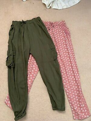 2 Pairs Girls Next Hareem Trousers Age 10 Years