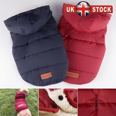 Winter Waterproof Small Dog Coat Warm Fleece Lined Hooded Dog Jacket