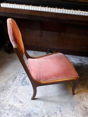Antique Chair maybe Victorian or Edwardian Nursing or Slipper Chair