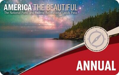AMERICA THE BEAUTIFUL ANNUAL PASS Exp August 2020 Entry to all US National Parks