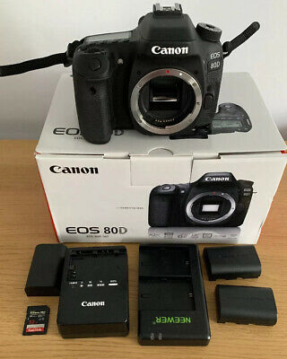Canon EOS 80D 24.2MP Digital SLR Camera Body Only - Black Includes Memory Card