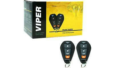 Viper CAR ALARM SECURITY SYSTEM KEYLESS ENTRY SYSTEM 3CHANNEL 1WAY 2REMOTES NEW!