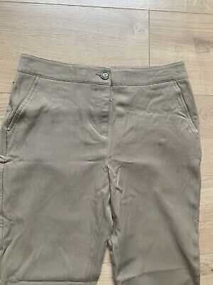 Womens Reiss Tabacco Colour Trousers Never Worn (Size 8) With Ankle Zips