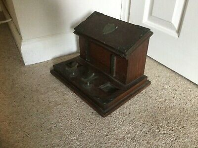 Antique Mahogany Desktop Writing Box, Stationery Cabinet