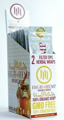 High Hemp Organic Wrap 25 Pouch in a Box 2 in a Pouch 50 Wraps (HONEY POT SWIRL)