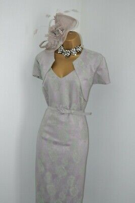 ~ ROMAN ~ Beautiful Brocade Dress & Jacket Size 16 Mother of the Bride Outfit