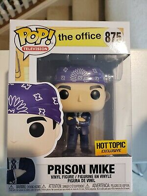 Funko Pop! The Office Prison Mike Hot Topic Exclusive #875 + Pop  Free Protector