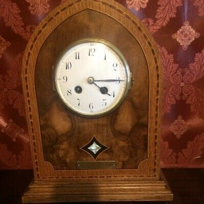 Gorgeous 1920's Arched Top Mantle Clock With Japy Fres Movement