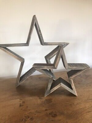 Free standing wooden stars, 3d effect, small & large sizes, home or venue decor