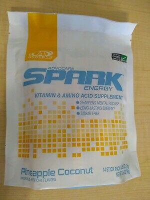 Advocare Spark Limited Edition Pineapple 🍍 Coconut🥥 !!! 14 Stick Pack!!