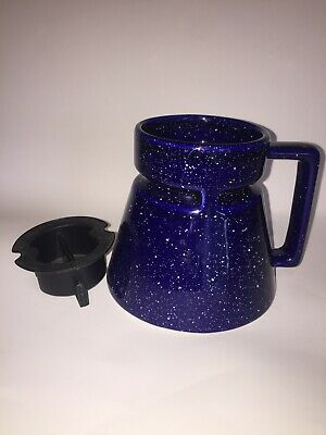 HOTJO Blue Splattered Spill Proof Travel Coffee Mug Cup with Lid