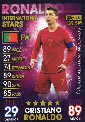 Match Attax 101 Cristiano Ronaldo International Stars Card - 2019 Portugal