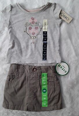 NWT Cherokee Circo Infant Girls Outfit Size 6 Months 2 Pc G/D-3