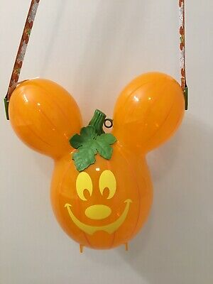 2019 Disney Mickey's Not So Scary Halloween Party Pumpkin Balloon Popcorn Bucket