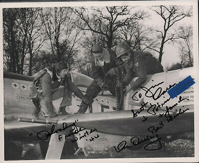 "10x8"" P-51 GLOSSY PHOTO signed to a friend by ACE (KEN DAHLBERG w/ HIS P-51)!"