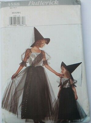 Butterick Halloween Costume Pattern Girl's WITCH