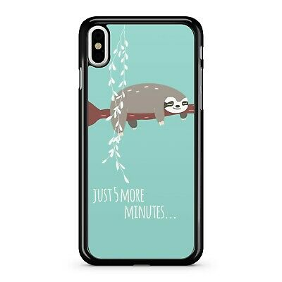 Just 5 More Minutes ... Quote Lazy Cuddly Adorable Cute Sloth Phone Case Cover
