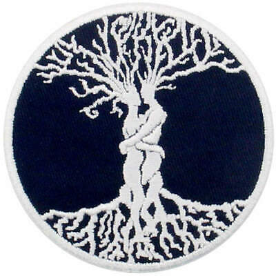 Embroidered Patches Iron Sew On transfers Badges appliques Love Tree Forever 696