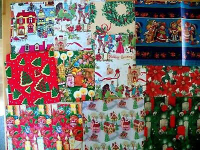 1960's UNUSED Vintage Wrapping Paper 12 Pc. Lot JUNK JOURNAL Altered Art Crafts