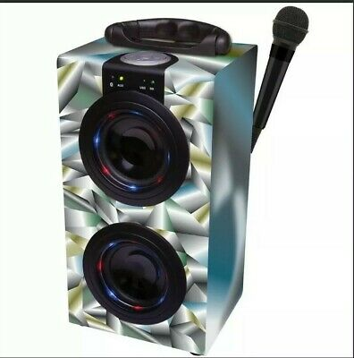 Lexibook Portable Karaoke Machine with Microphone with Lights, Bluetooth