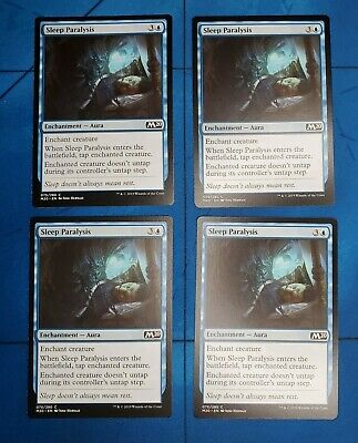 x4 Sleep Paralysis MTG Shadows over Innistrad C M//NM English