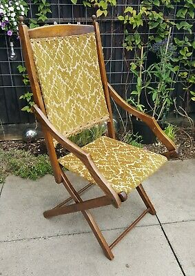 Victorian / Edwardian / Antique Folding Campaign Chair - HERTS