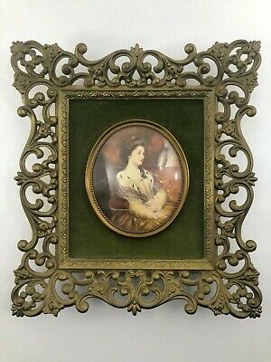 A CAMEO CREATION Portrait of a Lady by Etienne Bouchadry Wall Picture Framed MCM
