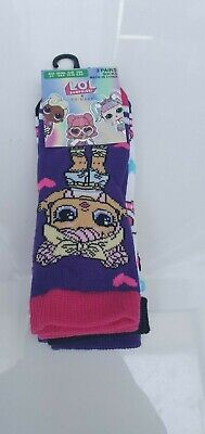 Primark LOL surprise doll warm socks pack of 3 age 2-11+ years old