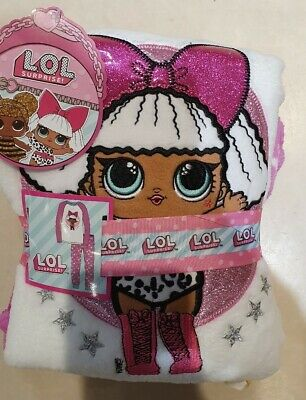 Primark LOL surprise Dolls girls fleece winter pyjamas set christmas pjs cozy