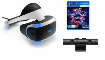 Sony PlayStation VR Headset + PS4 Version 2 Camera + 4 VR Games Bundle