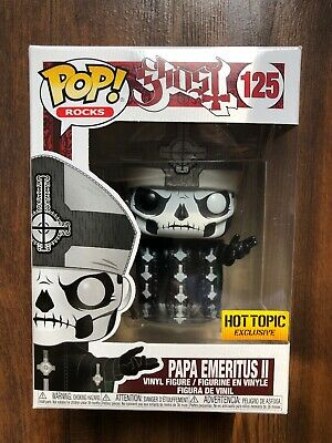 FUNKO POP ROCKS GHOST SERIES PAPA EMERITUS II HOT TOPIC EXCLUSIVE see desc