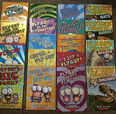 Fly Guy!!  Mixed Lot Of 18 Child Books By Tedd Arnold!  Pb/Hb