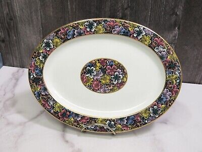Antique Royal Worcester for Tiffany & Co Imari Floral Oval Platter 10 3/8""
