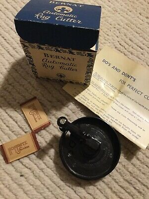 Vintage Bernat Automatic Rug Cutter with Instructions Great Britain New in Box