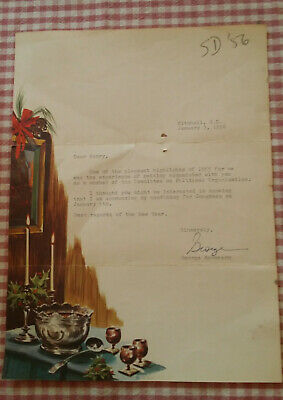 Vintage 1956 Letter from George McGovern to Henry Zon