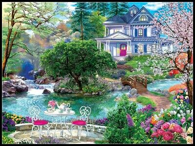 Waterside Tea - DIY Counted Cross Stitch Patterns Needlework for embroidery