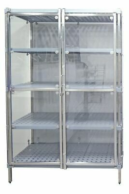 Security Cage for Coolroom Dry or Freezer Storage Zinc Wire Grid 1800H x 450W