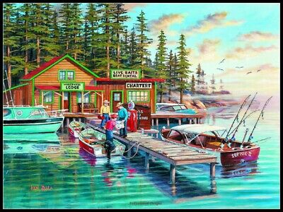 Rainy Lake - DIY Counted Cross Stitch Patterns Needlework for embroidery