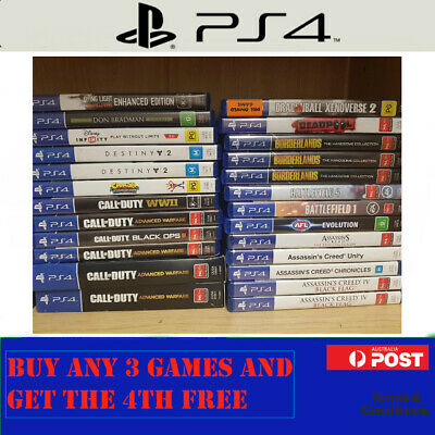 PS4 Games : Updated 14/10 - Sony PlayStation 4 - BUY 3 & GET THE 4TH FREE