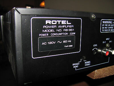 Rotel RB-951 Stereo Power Amplifier