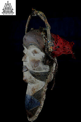 Stunning Vintage Pende Mask, Congo, Africa