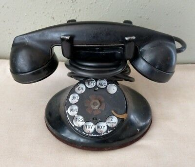 Vintage Western Electric D1 Rotary Dial Telephone w/ F1 Handset - 5H Dial
